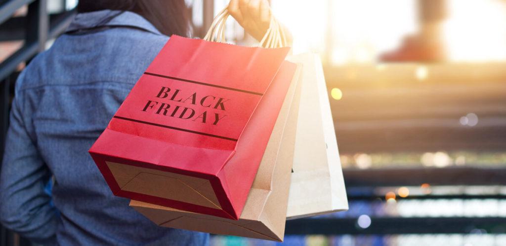 Black Friday shopper heading home