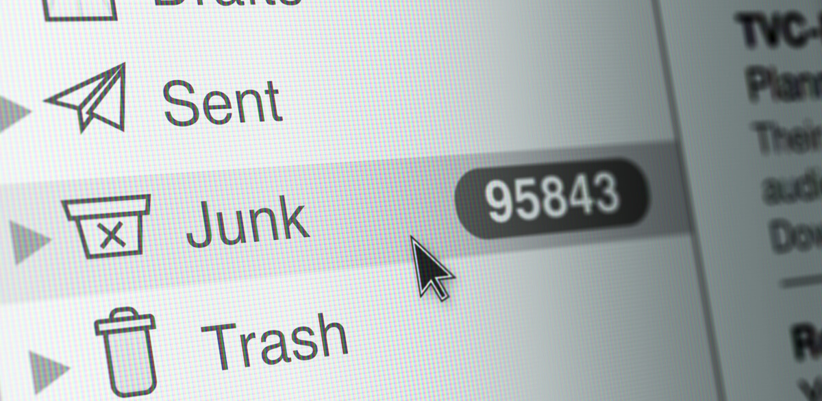 Checking the Spam folder in Gmail