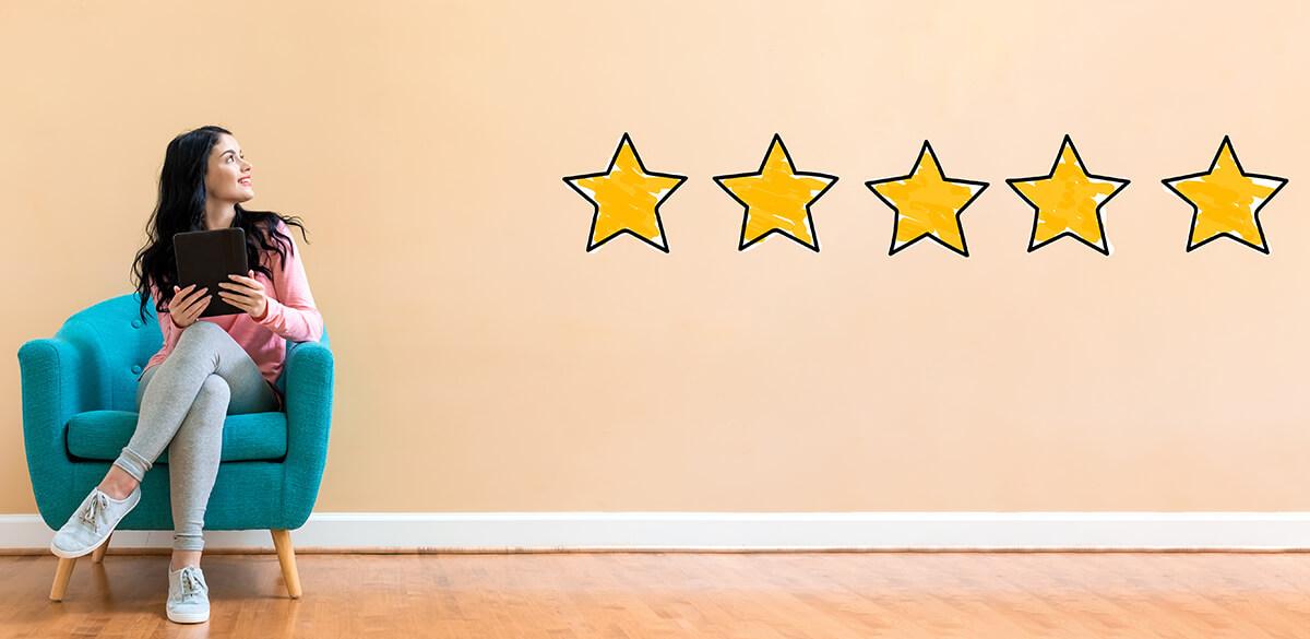 5 star customer rating