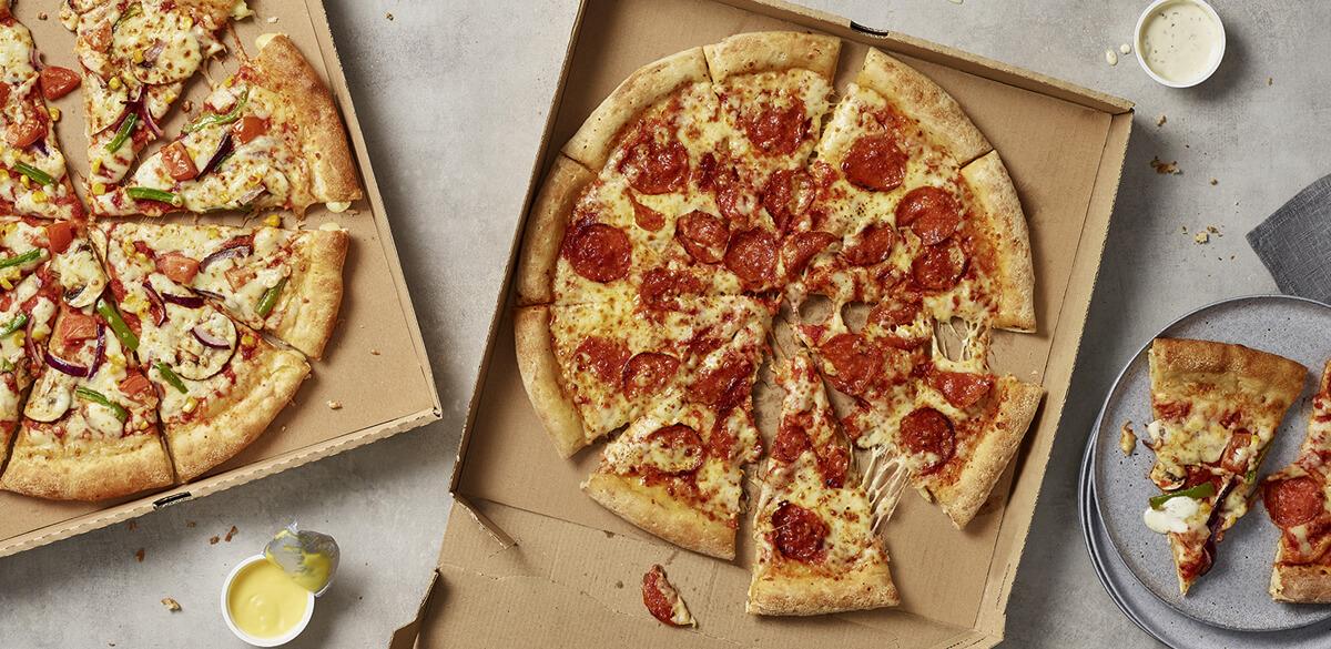Papa John's pizza and sides