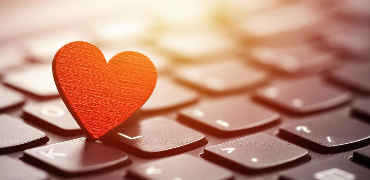 Heart on a keyboard