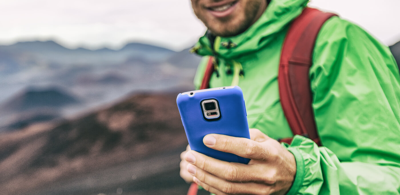 Hiking with a mobile