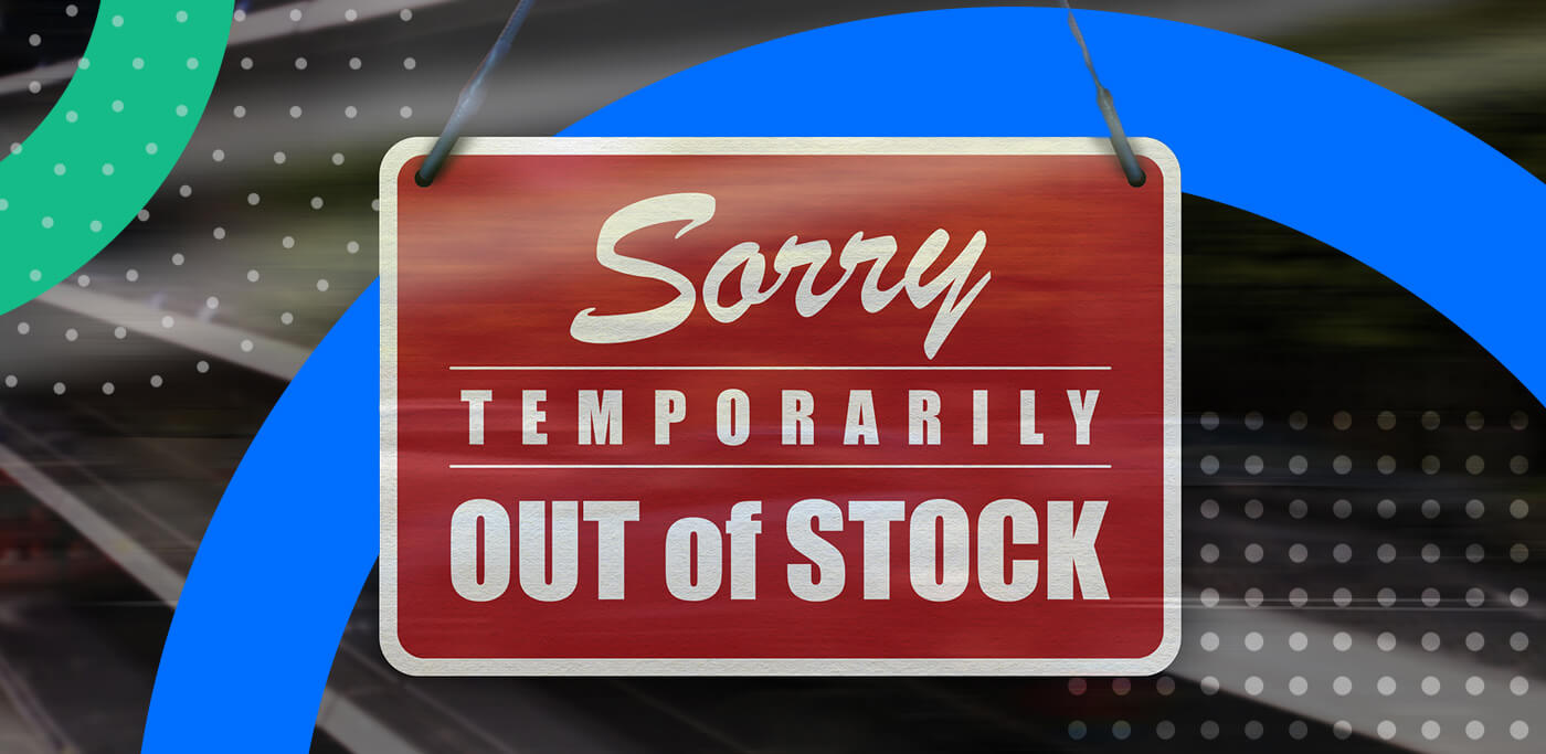 Out of stock sign
